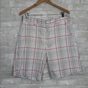 Men's Under Armour Plaid Shorts Size 34